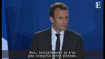 Emmanuel Macron, dans le verbe et (en même temps) dans le geste