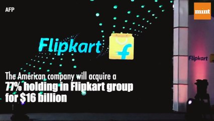 US retailer Walmart buys 77% stake in Flipkart for $16 billion