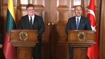 Dışişleri Bakanı Mevlüt Çavuşoğlu ile Litvanyalı Mevkidaşı Ortak Basın Toplantısı Yaptı