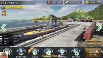 WARSHIP BATTLE : New Warship YAMATO SUPREME (Attendence Check) - Episode 18 Mission 1