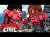 Minecraft  GUERRA CIVIL HARDCORE #2 - HULK VERMELHO vs HULK VERMELHO ?!