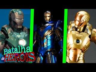 minecraft iron man de ouro vs iron man azul vs iron man verde batalha de her i