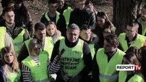 """Report TV - """"Të pastrojmë Shqipërinë që duam"""" 3000 vullnetarë pastrojnë terrenin në Krujë"""