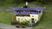 Modelleisenbahn Graubündenbahn mit perfekter Oberleitung in Spur H0m - Ein Video von Pennula zum Thema Modelleisenbahnanlage und Modellbahnausstellung