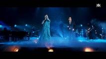 """Pour l'anniversaire de Michaël Gregorio, Pascal Obispo débarque sur scène déguisé en """"La Reine des Neiges"""" - Regardez"""