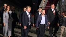 Trump recibe a los tres estadounidenses liberados por Pyongyang