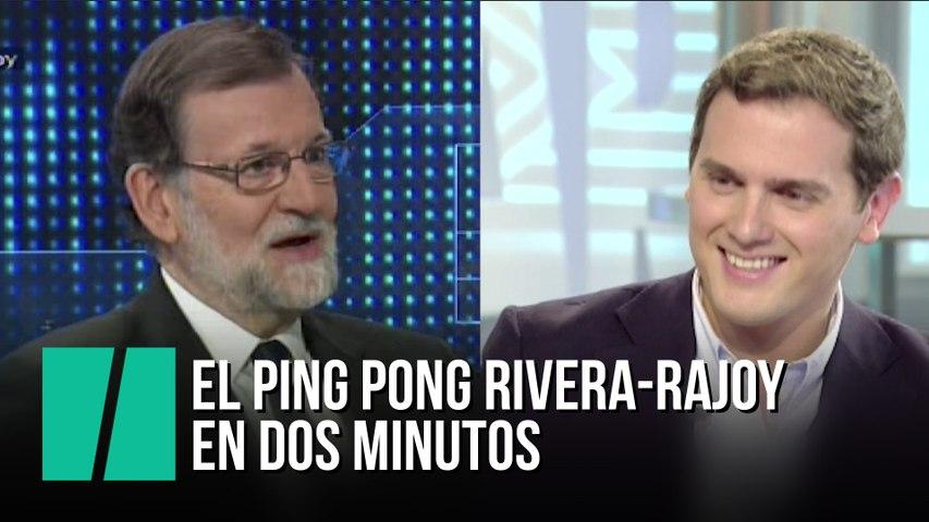 El ping pong de Rivera y Rajoy en dos minutos
