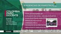 Colombia: docentes exigen al gobierno cumplir acuerdos firmados