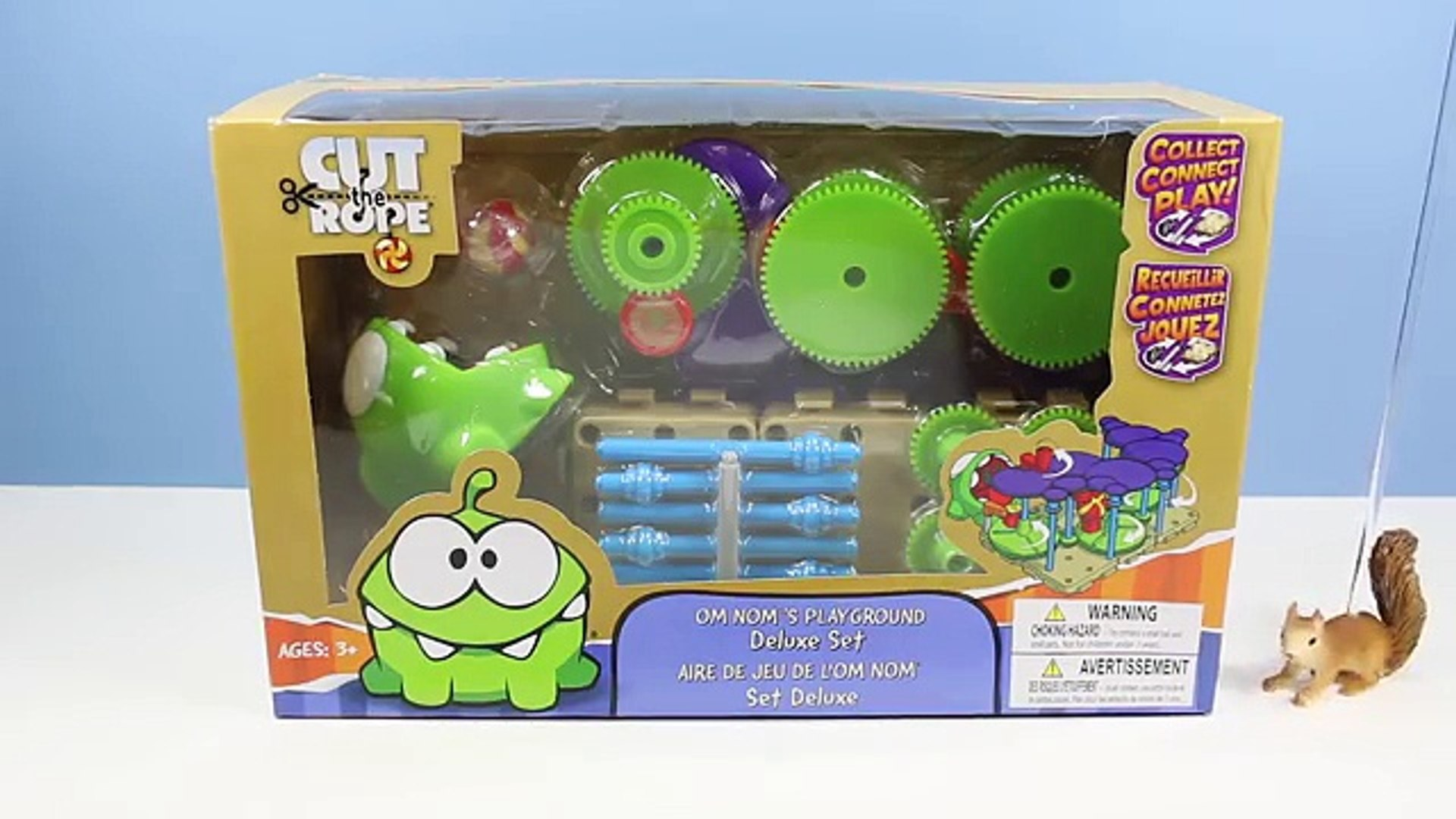 Cut The Rope Om Noms Playground Deluxe Set New Rare Toy Gears Machine Video Dailymotion