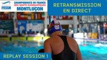 Championnats de France FFESSM 2018 - NAGE AVEC PALMES - SESSION 1