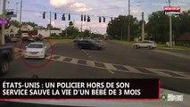 États-Unis : Un policier héroïque sauve un bébé de 3 mois (Vidéo)