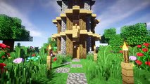Minecraft Easy Wooden Survival House Tutorial 1 How To Build