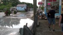 Moving to Belize: Ambergris Caye wet street