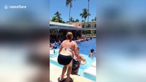 American man parades around pool in 'Borat'-style mankini after losing bet