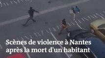 Les images des violences à Nantes après la mort d'un jeune homme tué par un policier