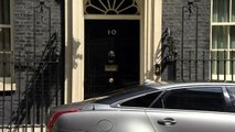 Theresa May departs Downing Street for PMQs
