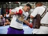 MARCOS MAIDANA: Mitt Workout W/ Robert Garcia for Floyd Mayweather fight