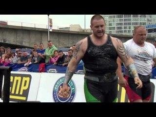 UKs Strongest Man 2013 SHOW 4XL Max Stone LIft