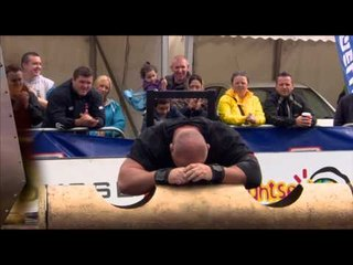 Ultimate Strongman Masters 2012 Inclined Log Lift