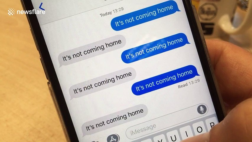 When your phone tries to tell you it's not coming home