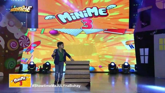 It's Showtime MiniMe 3: Angelo George Uyyco as mini Joshua Garcia