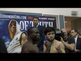John Ryder v Theophilus Tetteh Weigh-In & Face Off