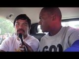 EXCLUSIVE MANNY PACQUIAO: REVEALS SPARRING PARTNER! for Manny Pacquiao vs Floyd Mayweather