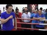 Julio Cesar Chavez Jr SHADOW BOXING for Julio Cesar Chavez jr vs Andrezj Fonfara