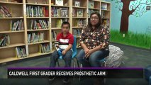 School librarian builds prosthetic arm for Caldwell first grader
