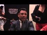 Oscar De La Hoya - Writers Roundtable Interview for Canelo Alvarez vs  Miguel Cotto