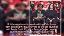 Kylie Jenner & Travis Scott attend basketball game after being mom shamed for going to Coachella