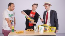 Joey Chestnut Coaches NowThis Employees in Hot Dog Contest