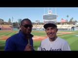 GGG Golovkin Throws WILD First Pitch at Dodgers vs Giants!