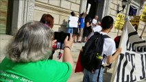 Civil Disobedience Action at the Hall of Records in Newark, NJ - First Arrests