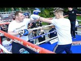 Fedor Chudinov Public Workout Ahead of his Fight with George Groves
