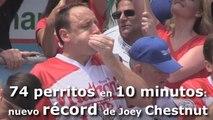 74 unidades en diez minutos: nuevo récord en el concurso de devoradores de perritos calientes