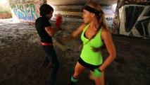 Jiu Jitsu Girl vs Kickboxing Guy Martial Arts Action Scene
