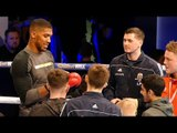 Anthony Joshua signs autographs after his Media Workout | Joshua vs Parker