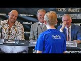 """LOL!! """"YOU WANT SOME!!"""" WEALDSTONE RAIDER CHALLENGES TO FIGHT FURY!! @FINAL PRESSER boxing"""