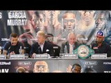 Murray & Garcia in HEATED press conference DEBATE