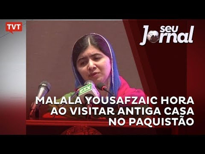 Malala Yousafzai chora ao visitar antiga casa no Paquistão
