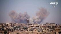 Frappes aériennes sur des zones rebelles de Deraa en Syrie