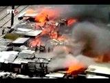 Incêndio destrói quatro favelas em SP
