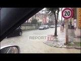 Report TV - Reshjet e shiut, Durrësi tërësisht nën ujë