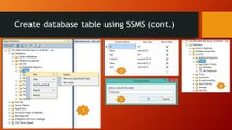 Part-2  How to create table in SQL Server , Insert data or value into the table and  view i