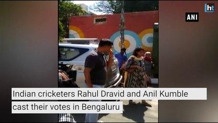 Karnataka Elections 2018: Rahul Dravid, Anil Kumble cast their votes