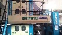 Web offset printing machine - ROTTASPEED 30 machine running