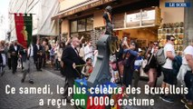 Manneken-Pis a reçu ce samedi son millième costume