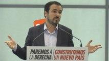 """Garzón defiende dar a la militancia """"la última palabra sobre las alianzas políticas"""""""