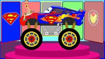 Monster Truck Police Car & Smile Cars for Children – Assembly & Fun Race – Cars Cartoon for Kids